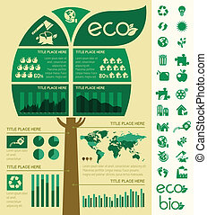 Ecology Infographic Template - Flat Infographic Elements...