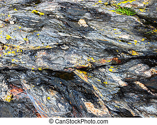 Rock texture - Detail of the rock texture closeup background...