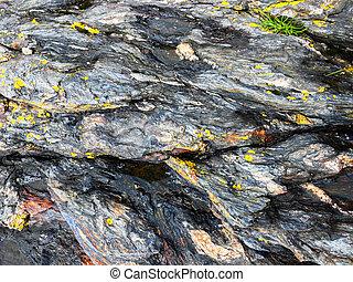 Rock texture - Detail of the rock texture closeup...