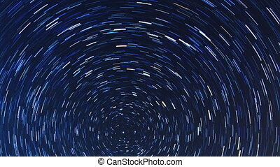 Star tracks. Fisheye. Time Lapse