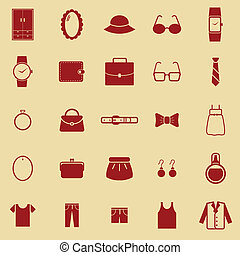 Dressing color icons on brown background
