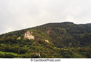 Castel Forte - View of Castel Forte in the mountain,...