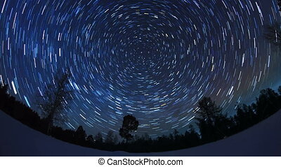 Star tracks Fisheye Time Lapse 4K - Star tracks Fisheye Time...