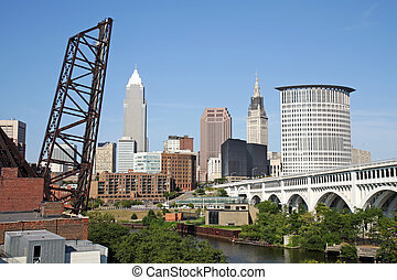 Cleveland, Ohio - View of the skyline of Cleveland, Ohio