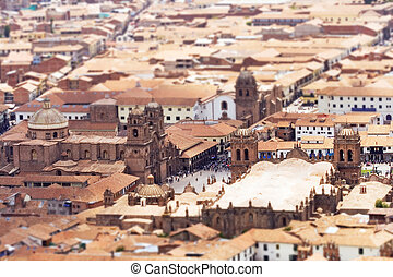 Cusco Tilt Shift - Tilt Shift Selective Focus view of the...