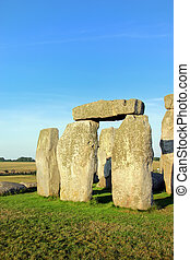 Stonehenge - Closeup of rock formation of Stonehenge in...