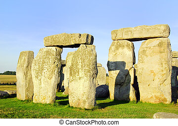Stonehenge - Close up of rock formations of Stonehenge in...