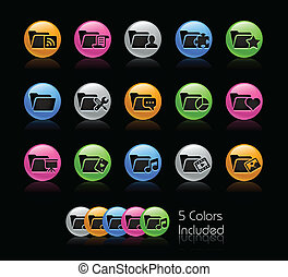 Folder Icon set 2 - Gelcolor Series - The Vector file...