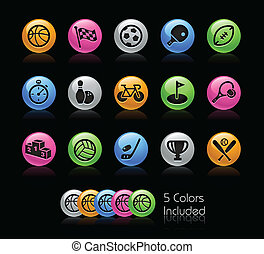 Sport Icon set - Gelcolor Series - The Vector file includes...
