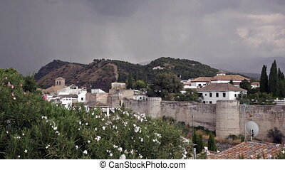 Granada, province of Andalusia, in windy day, Spain - View...
