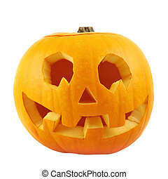 Jack-o'-lanterns pumpkin isolated over white background