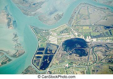 Lio Piccolo, Veneto, Aerial View