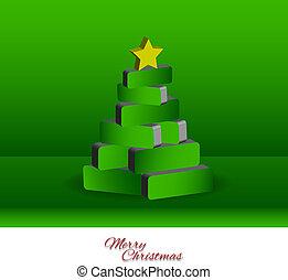 Christmas tree - 3d - Graphic Design - 3d bricks forming a...