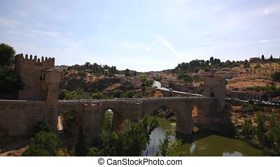 Old city of Toledo, Spain - View on old Toledo in sunny...