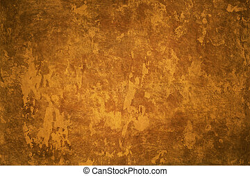 Artistic background - Abstract yellow-brown grunge...