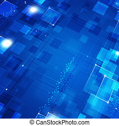 Blue Biz Motion Background - Abstract blue Square Dot and...