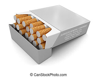 Cigarette Pack Image with clipping path