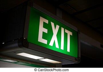 Exit - Green exit sign
