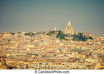 Sacre coeur, Montmartre, Paris - Sacre coeur at the summit...