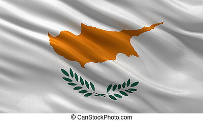 Flag of Cyprus waving in the wind