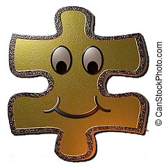 Golden Smily Puzzle - A golden 3d Smiley Puzzle that can be...