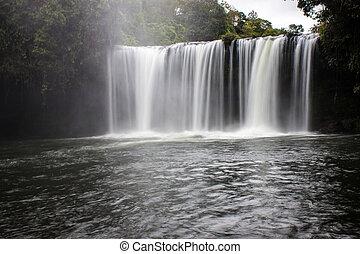 Tat Cham Pee waterfall in Laos