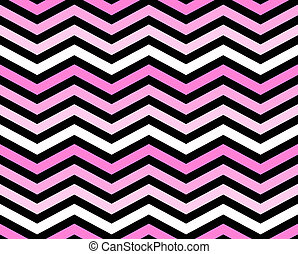 Pink, White and Black Zigzag Pattern Background that is...