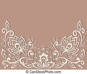 beautiful floral pattern, a design element in the old style...