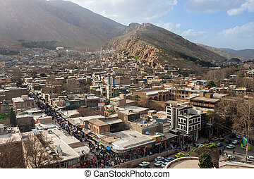 Aerial view of Khorramabad, Iran