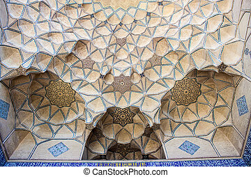 Detail of Jameh Mosque in Isfahan, Iran