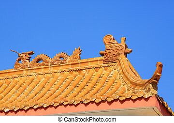 ancient chinese architecture housetop