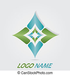 Illustration art of a logo with isolated background