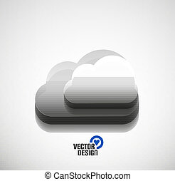 3d vector cloud computing concept icon