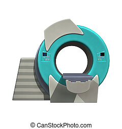 MRI Machine - 3D digital render of a mri or magnetic...