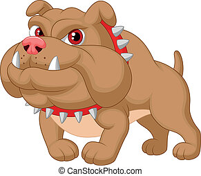 Bulldog cartoon - Vector illustration of Bulldog cartoon
