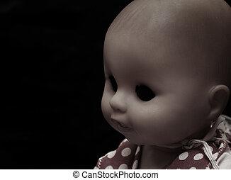 Dark series - vintage spooky doll