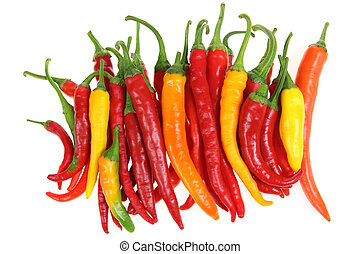 Peppers - Colorful, fresh cayenne peppers Vegetables...