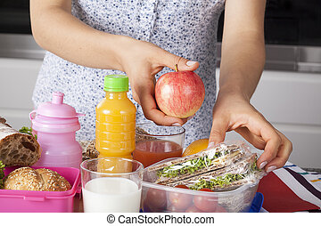 Healthy meal prepared by mum