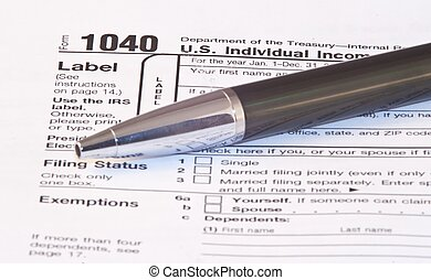 Tax Season - Filling federal individual tax return forms