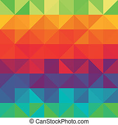 Seamless patten with rainbow triangles
