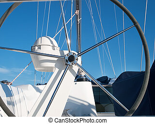Helm - helm station on sailing boat