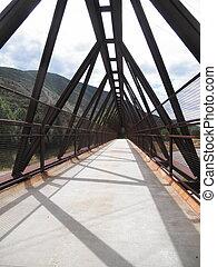 Trail Bridge 2 - Pedestrian Bridge over freeway near Aspen,...