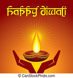 Diwali greeting background - Illustration of diwali greeting...