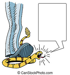Squashed Tea Party Snake - An image of Uncle Sam squashing a...