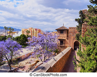 Alcazaba in Malaga, Spain - The Alcazaba - old fortification...