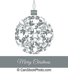 Christmas ball - Graphic Design - Christmas ball with floral...