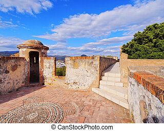 Gibralfaro Castle in Malaga, Spain - Castillo de Gibralfaro...