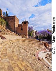 Roman Theatre in Malaga - Ancient Roman Theatre in Malaga,...