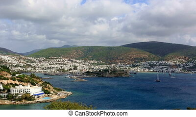 Bodrum Bay time lapse - very famous place travel destination...