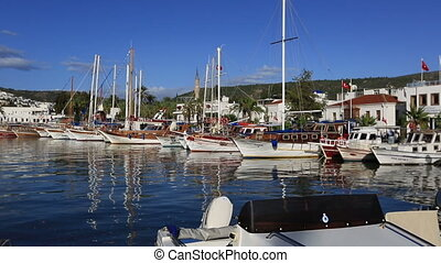 Bodrum Bay (pan shoot) - travel destination at Bodrum Turkey